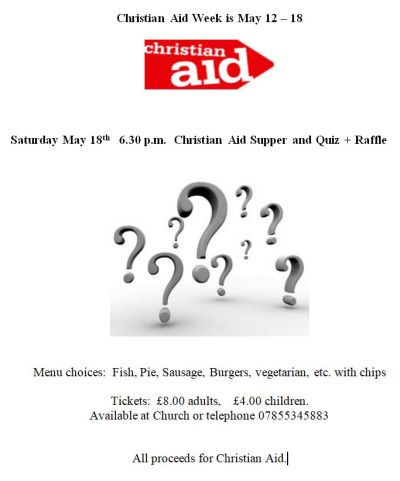Christian aid supper and quiz 2019 s